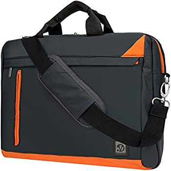 "Computer Mesenger Bag for HP 15.6"" 14"" Laptop Envy / ProBook / Omen / Elitebook / Pavilion / Chromebook, Orange"