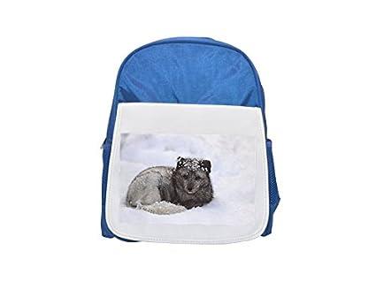 Mochila infantil con estampado de zorro ártico (Alopex Lagopus), mochila azul con estampado de Suecia, ...