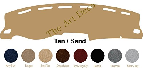 (The ArtDeco Custom Made Carpet Dash Cover Fits for Nissan Frontier Dash Cover Mat Pad Fits ; (2007-2018 (Same with or w/o Navigation), Sand-Tan) )