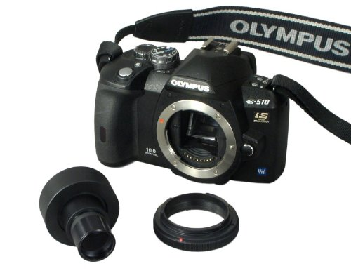 Microscope Adapter for Nikon Olympus D-SLR with 2X Lens by OMAX