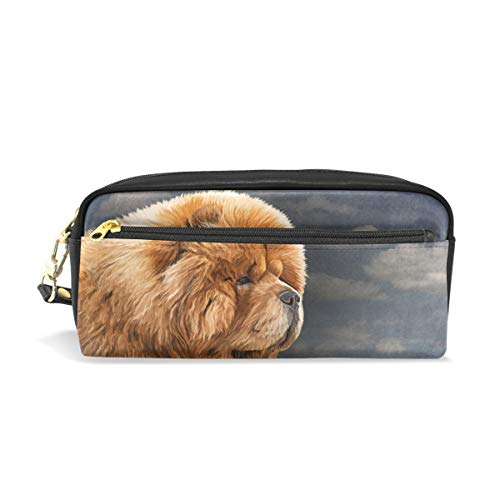 My Daily Chow Dog Vintage Pencil Case Pen Bag Pouch Coin Purse Cosmetic Makeup Bag