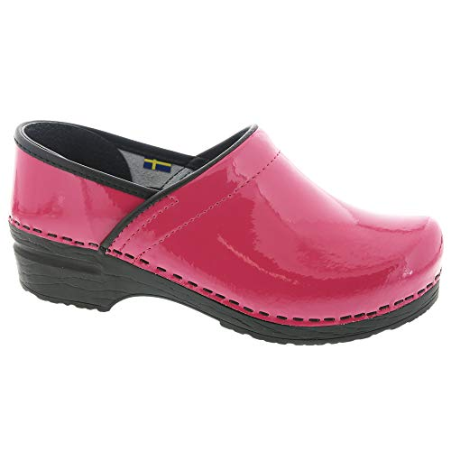 Bjork PRO ELSA Fuchsia Patent Leather Clogs (39 M EU)