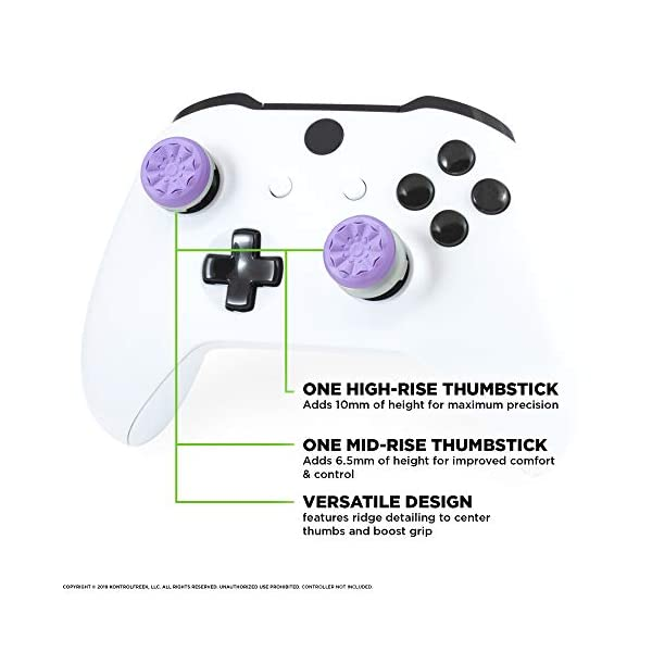 KontrolFreek FPS Freek Galaxy Purple for Xbox One and Xbox Series X Controller | 2 Performance Thumbsticks | 1 High-Rise… 4