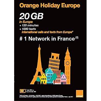 Amazon.com: Orange Holiday Europe - 3GB Internet Data in 4G ...