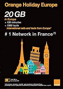Amazon.com: Orange Holiday Europe tarjeta SIM prepaga para ...