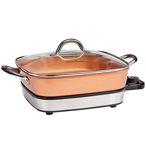 Copper Chef 12 inch Removable Electric Use as a Skillet, Buffet Server and in The Oven