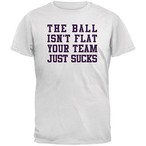 Deflategate Your Team Sucks White Adult T-Shirt - Medium