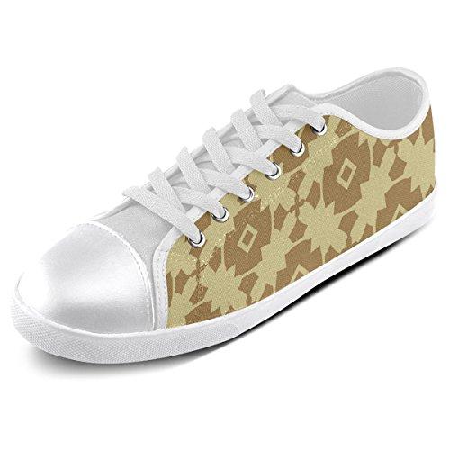 Artsadd Custom Earth Gold Geometric Canvas Shoes For Men (Model016) Akp3CAQOJH