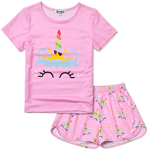Unicorn Pajamas for Teen Girls 12 13 Pink Pjs Sets Clothes Summer ()