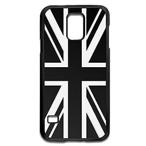 Samsung Galaxy S5 Cases Black White UK Flag Design Hard Back Cover Cases Desgined By RRG2G