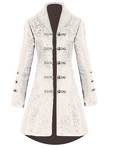 Womens Vintage Tailcoat Jacket Steampunk Victorian Uniforms Formal Tuxedo Coat (XS, ()