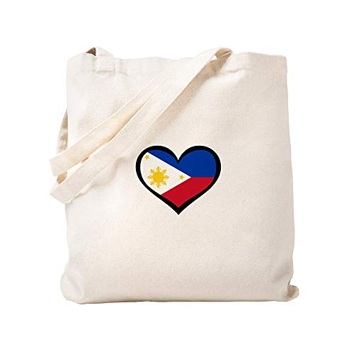 CafePress Filipino Love Natural Canvas Tote Bag, Cloth Shopping Bag - Filipino Tote Bag