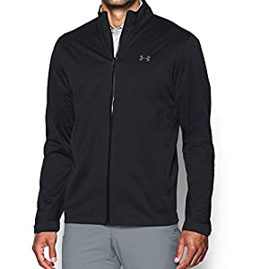Under Armour Men's Storm Rain Jacket, Black/Black, Large