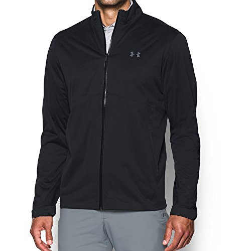 Under Armour Men's Storm Rain Jacket, Black/Black, Medium (Black Storm Jacket)