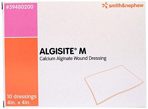 Alginate Dressing Box - Smith and Nephew 59480200 Algisite M Calcium Alginate Dressings 4