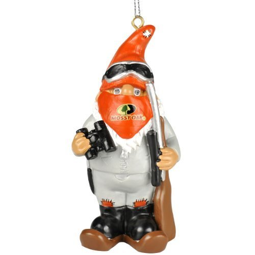 Mossy Oak Hunter Thematic Gnome Christmas Tree Hanging Ornament (Hunter w/ Binoculars Winter - Gnome Mossy
