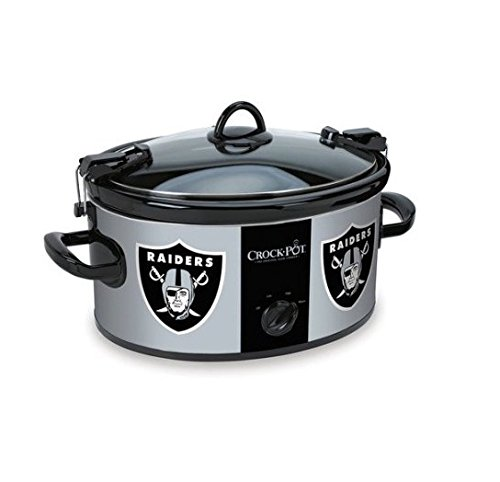 Official NFL Crock-pot Cook Carry 6 Quart Slow Cooker – Oakland Raiders
