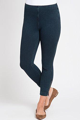 Lysse Women's Denim Cuffed Crop Indigo Jeans
