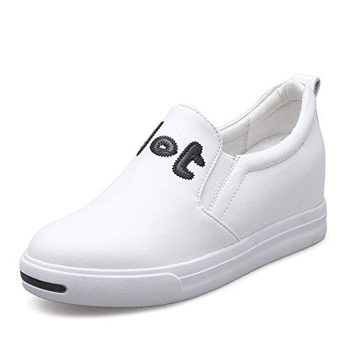 Cuero Le Fu, Zapatos De Suela Gruesa En La Primavera,Los Zapatos De Las Mujeres,Joker Alta En Zapatos Del Ocio Coreano,Los Zapatos De Las Mujeres A