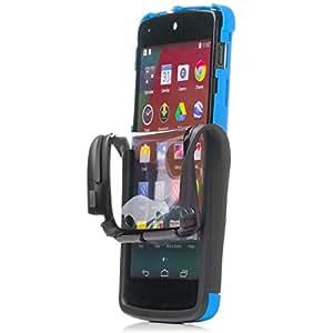 iCues |LG Google Nexus 5 - D820 Funda | 2 Part Touch Case | azul | Carcasa Bolsa Cover Bumper