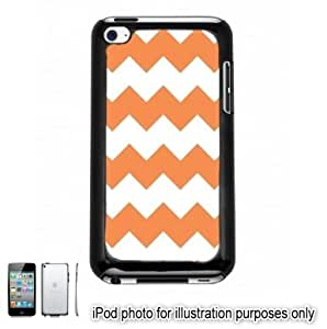 Orange Chevrons Pattern Apple iPod 4 Touch Hard Case Cover Shell Black 4th Generation