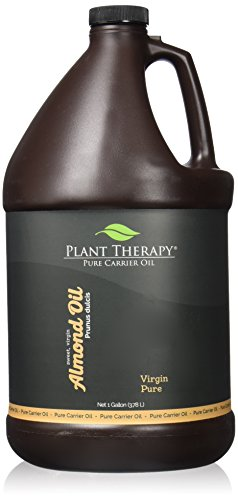Plant Therapy Sweet Almond Carrier Oil. A base for Aromatherapy, Essential Oils or Massage Use. 1 gal. (Aroma Therapy Oil Gallon)