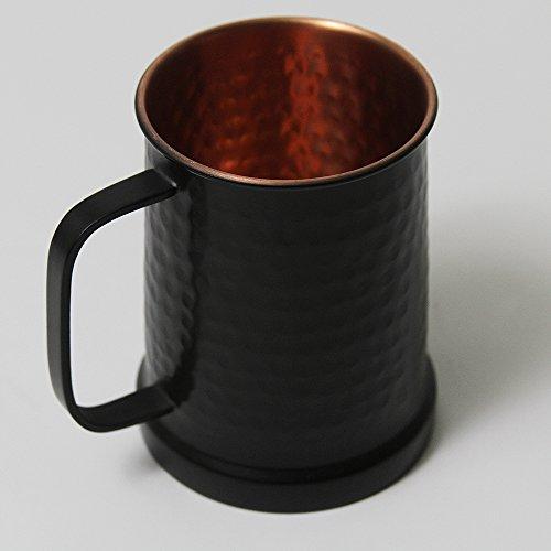 Pewter Barrel Stein (German Style Black Hammered Copper Beer Stein - 100% Pure Heavy Gauge Copper Beer Mug)