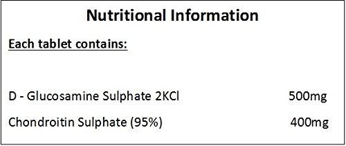Glucosamina Sulfato 500mg & Condroitina Sulfato 400mg - 180 Tabletas: Amazon.es: Deportes y aire libre