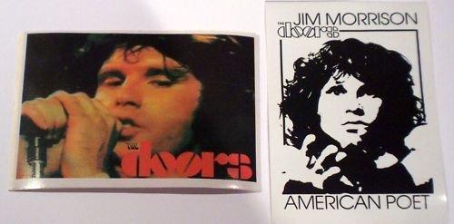 Set of 2 the Doors Jim Morrison Stickers
