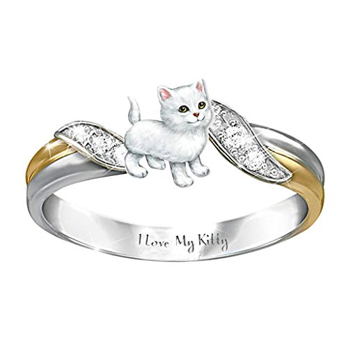 Mother's Day Ring Animal Shaped Women Wedding Party Jewelry Size 5-10 (E,6)