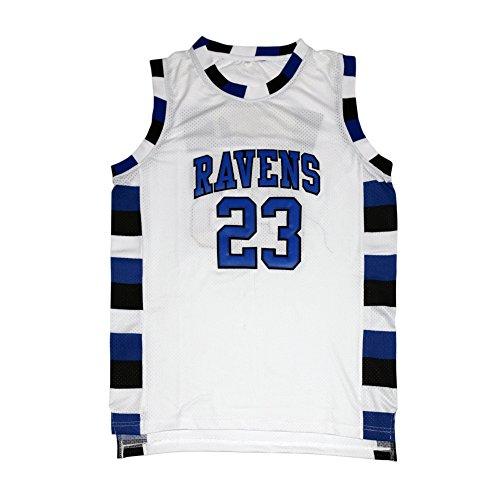 MOLPE Nathan Scott #23 Basketball Jersey S-XXXL White (L) (Tree Hill Ravens Jersey)