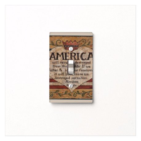 Got You Covered America Primitive Light Switch Cover for Bathroom