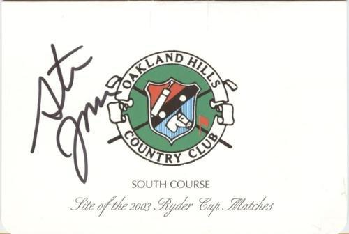 Steve Jones Autographed Oakland Hills Country Club Golf Scorecard - 1996 U.S. Open Champion