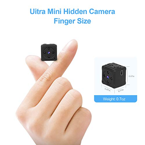 Mini Spy Camera Wireless Hidden, MHDYT Full HD 1080P Portable Small Covert Home Nanny Cam with Motion Detection and Night Vision, Indoor/Outdoor Micro Security Surveillance Hidden Camera