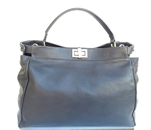 modello Made vera Donna in in morbida Scuro pelle Italy Grigio sauvage Superflybags Borsa Firenze z01Rxqwng