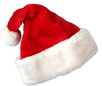 Christmas Hat.Mtn Christmas Hat For Kids Santa Hat Plush Fabric Made By High Quality Material Kids Size