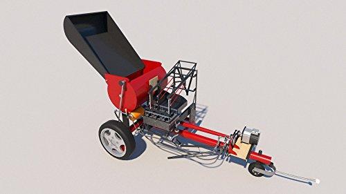 Concrete Block Making Machine Plans DIY Cinder Brick Maker 100 Blocks an Hour ()