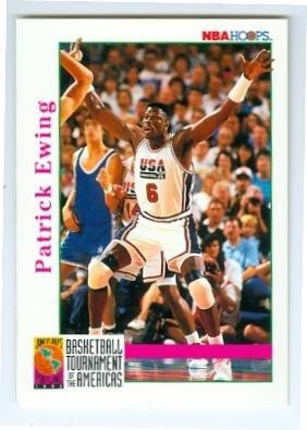 - Patrick Ewing basketball card (USA Basketball Dream Team) 1992 NBA Hoops #339