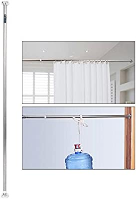 Zerone Barra de ducha extensible telescópica, barra de cortina de ducha telescópica de acero inoxidable extensible 125-220 cm: Amazon.es: Hogar