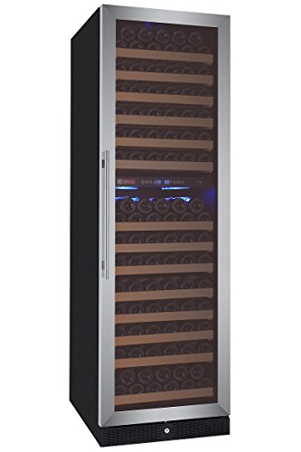 Allavino FlexCount Classic Series 172 Bottle Dual-Zone Wine Refrigerator Right Hinge Stainless Steel by Allavino