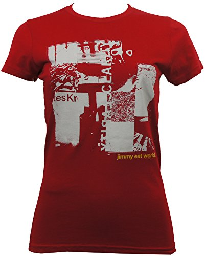 Jimmy Eat World Clarity Collage Juniors T-shirt Red (Collage Juniors T-shirt)