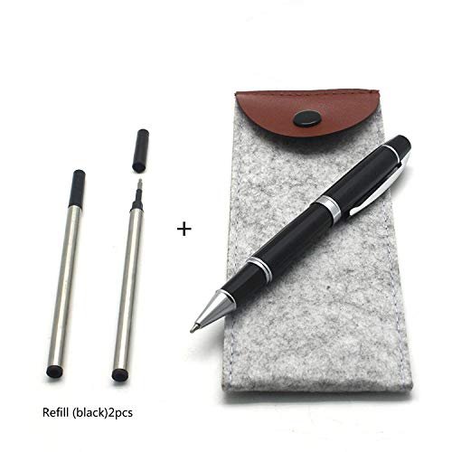 Metal Roller Pen with 2 refills (0.5mm),Roller Ballpen,Ballpoint pen,Gift Packing,Gift Pen for Signature Executive Business,Men,Women(132#)