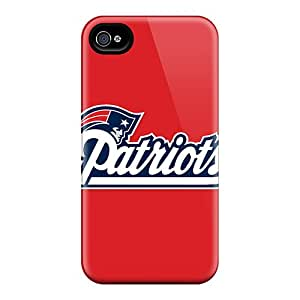 Perfect Hard Phone Cover For Iphone 4/4s With Customized Nice New England Patriots Series CharlesPoirier