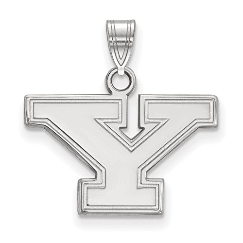 925 Sterling Silver Rhodium-plated Laser-cut Youngstown State University Small Pendant