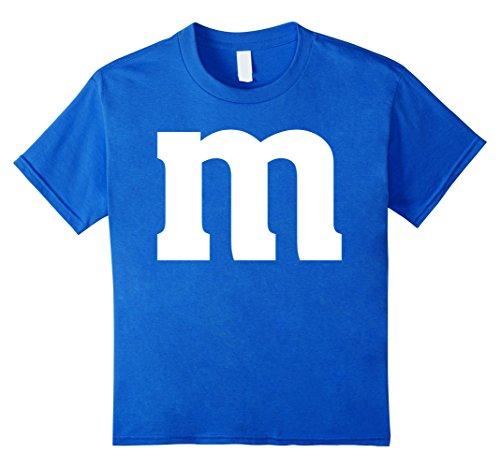 Kids M Letter Genius Last-minute Halloween Costume Tee 12 Royal Blue