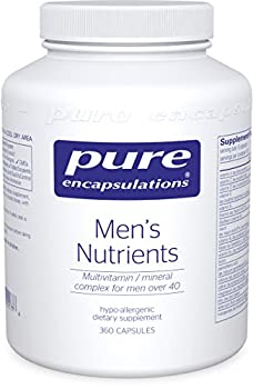 Pure Encapsulations - Men's Nutrients - Hypoallergenic Multivitamin/Mineral Complex for Men over 40 - 360 Capsules