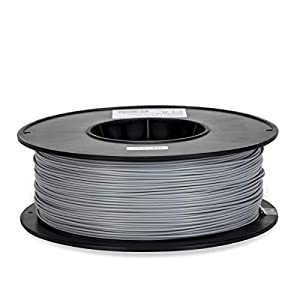 Inland 1.75mm Silver PLA 3D Printer Filament - 1kg Spool (2.2 lbs) by Inland