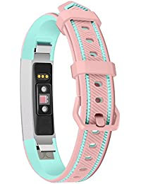 Smart Bracelet Sports Silicone Watch with Two-Color Silicone Replacement Wrist Strap for Fitbit Alta