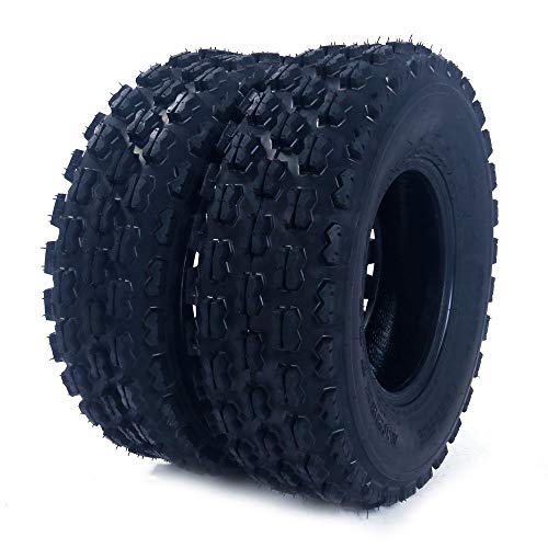2Pcs MASSFX AT 19X7-8 4PR ATV/UTV Tires 16/7-8 Tubless Sport P327 Left, Right, Front 4PLY ATV Tires by Roadstar