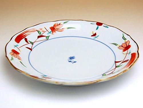 【5枚セット販売】【有田焼】花飾り 6寸皿 149078 【サイズ】径18.5cm×高さ2.8cm B00VYM227W